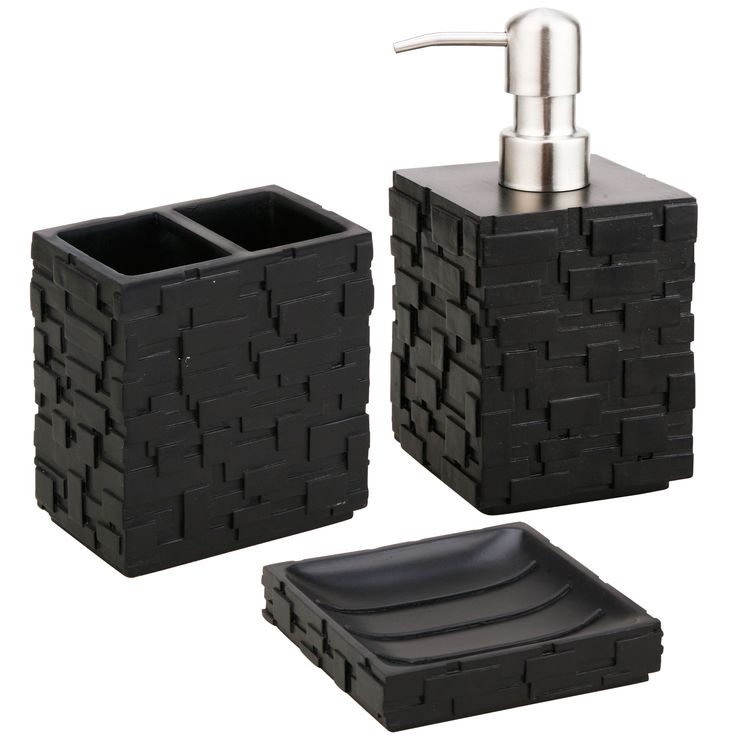 give your bathroom a sleek look with this threepiece bath accessory set from jovi