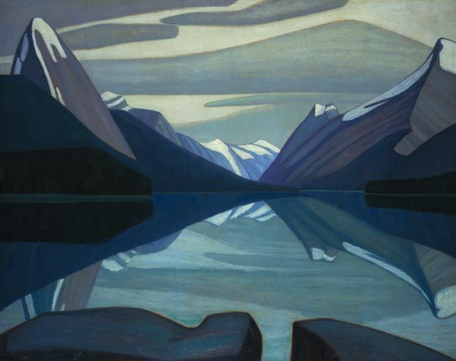 Maligne Lake, Jasper Park by Lawren Harris, 1924