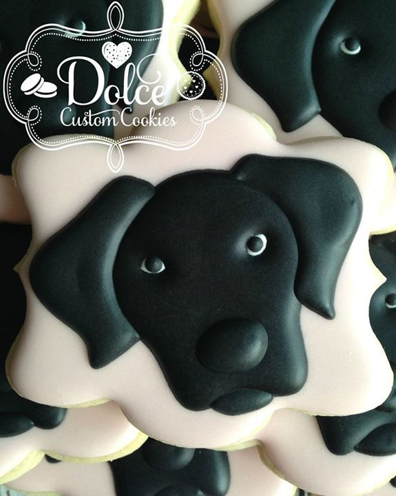 Dog Body Cut Out On  X  Cake Pattern