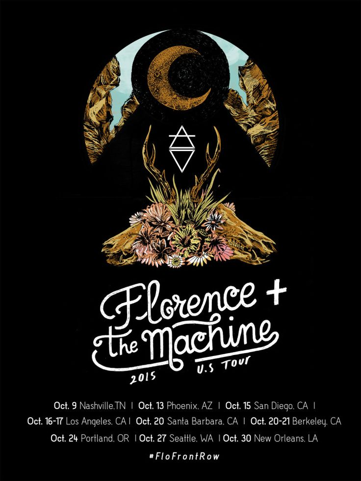 Florence + The Machine's 2015 U.S Tour Poster