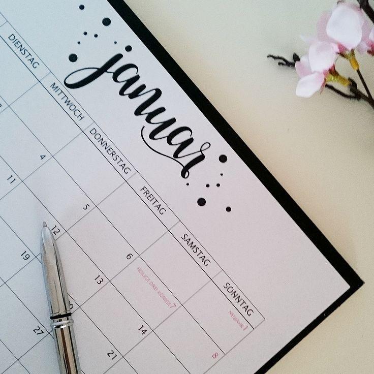PLANEN UND ORGANISIEREN 2017 / what a lovely day Kalender2017 Calender freebie