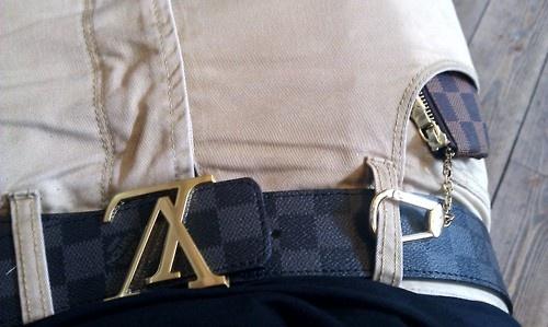 Louis Vuitton belt.