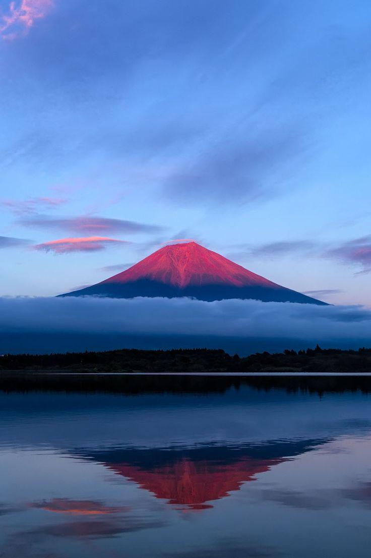 Mt. Fuji, Japan. I remember seeing it when I was in Tokyo, and flying over it on my way to Singapore. One day, I'll want to visit it up close.