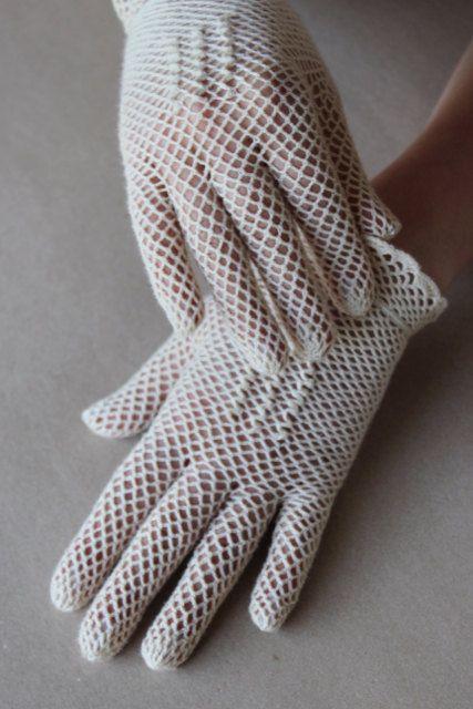 Crochet de mariée Vintage dentelle Ivoire mariage mariage par LiuMy