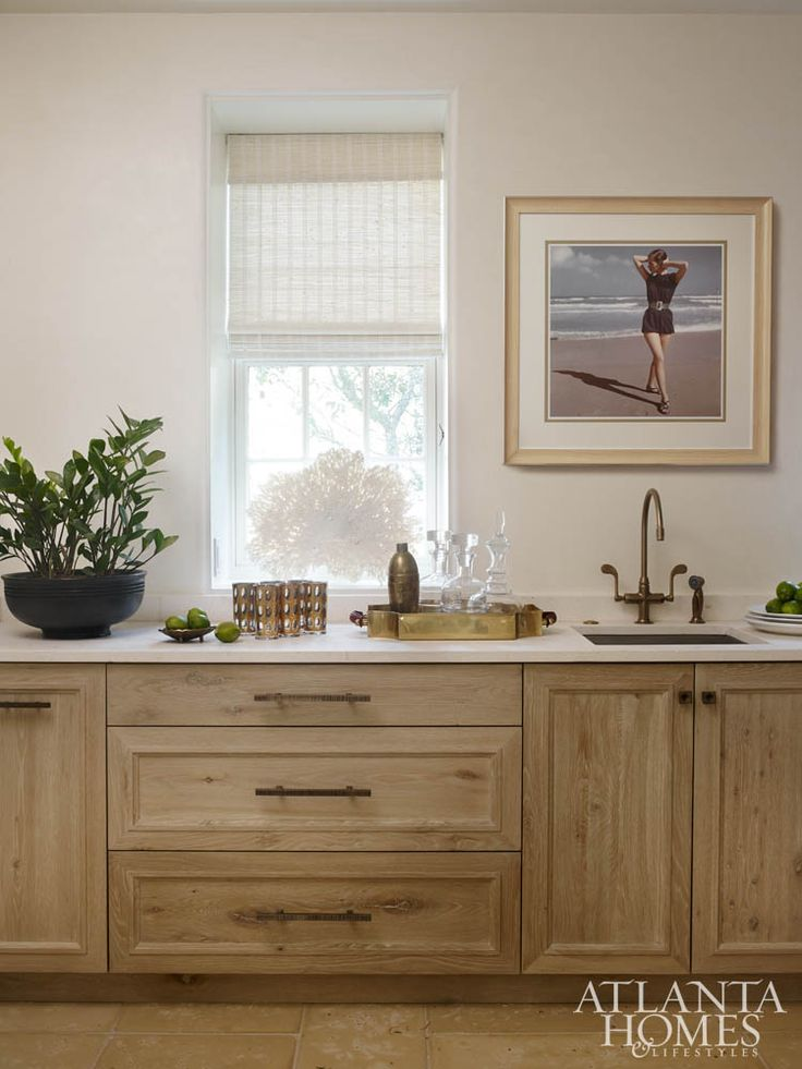 The Home S Scullery Kitchen Doubles As A Wet Bar And Keeps The Main Kitchen Clutter Colored Cabinetswood