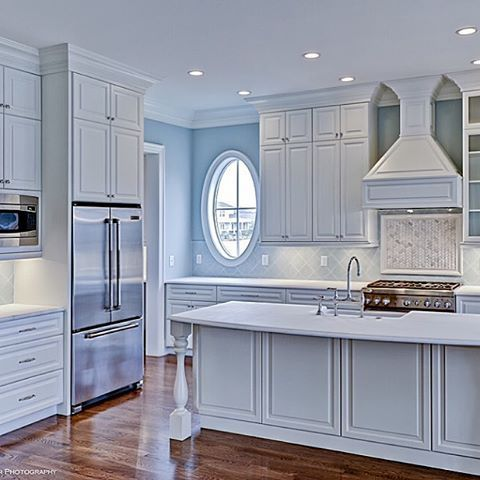 Spectacular white kitchen by Allison Ramsey Architects
