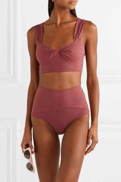 f09896a321d Marysia - Lehi twist-front bikini top in 2019