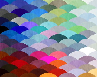 Scales by Steven Womack (via Society6): Quilts Patterns, Color, Rainbows Fish, Art Prints, Paintings Chips Art, Fish Scale, Throw Pillows, Steven Womack, Paintings Samples