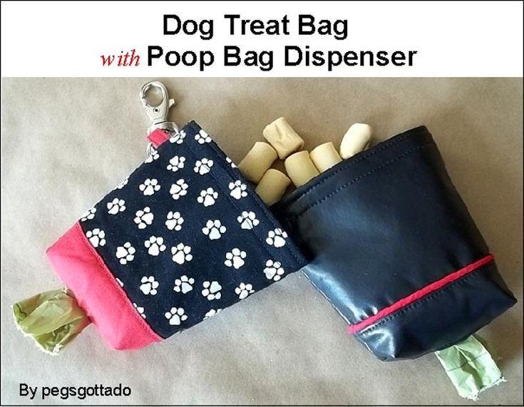Dog Treat Bag with Poop Bag Dispenser Pattern | Craftsy
