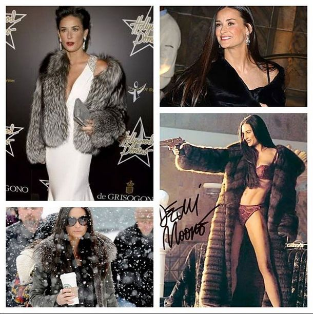 This month's famous birthday girl, actress Demi Moore still has it! #happybirthday #November #demimoore #fur #alaskanfur