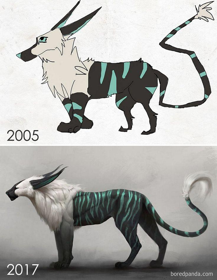 Vários ilustradores foram convidados a recriarem seus antigos desenhos. Confira o resultado. - Designerd