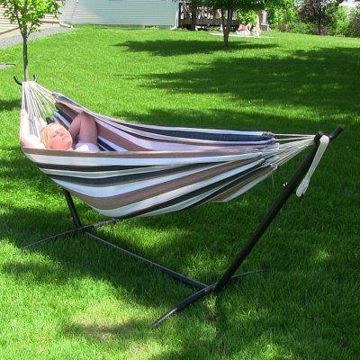sunnydaze double brazilian double hammock with stand   db  bo calming desert sunnydaze double brazilian double hammock with stand   db  bo      rh   pinterest