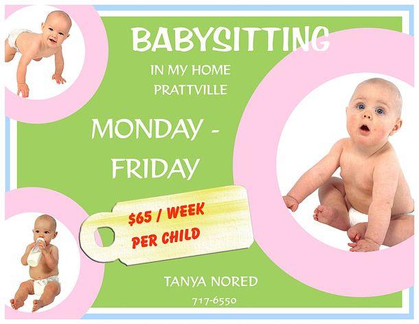 15 babysitting flyers 610 471 babysitting flyer ideas pinterest. Black Bedroom Furniture Sets. Home Design Ideas