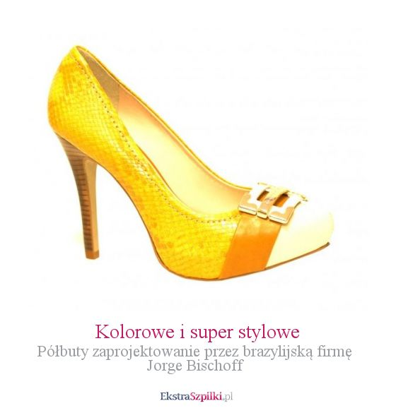szpilki żółte - Kolorowe i super stylowe - Półbuty zaprojektowanie przez brazylijską firmę Jorge Bischoff