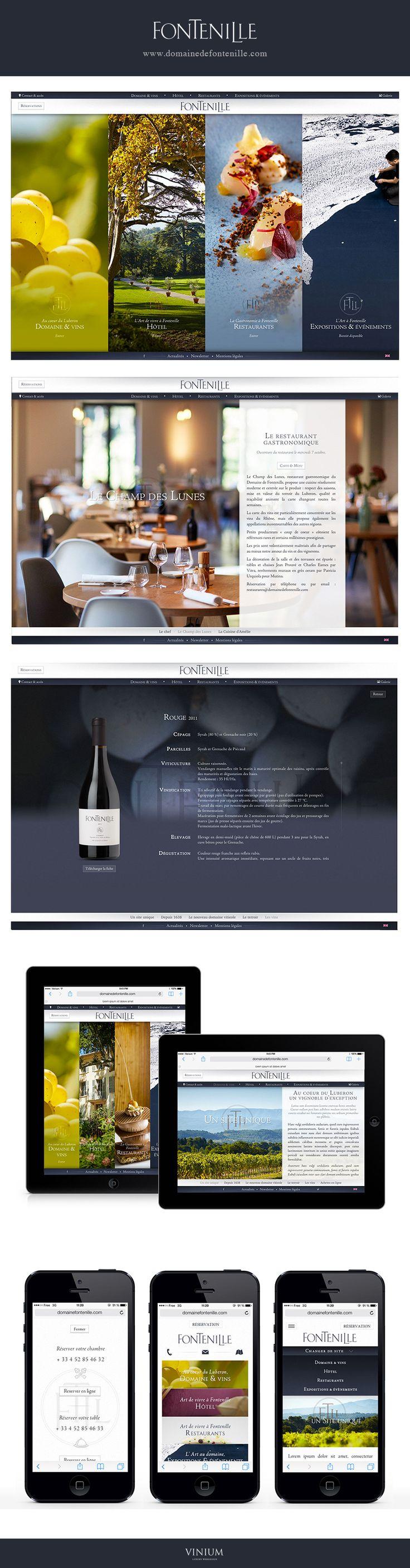 Fontenille www.domainedefontenille.com #webdesign #domaine #hotel #restaurant #gastronomie #luberon #provence #vin