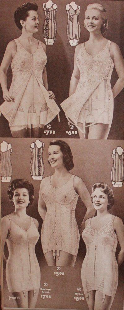 1950s plus size lingerie: corsets