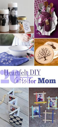 Heartfelt DIY Gifts for Mom.-20+ Heartfelt DIY Gifts for Mom by Idea Stand ...You can never go wrong with a handmade gift for your mom. When the holiday season is coming, if you can't still decide what gift to give Mom, this list of homemade gifts for moms will help you out. Take time to browse these collections ...