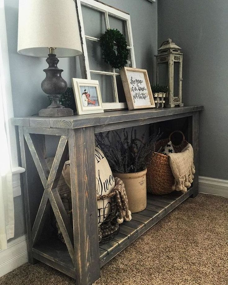 25 Editorial Worthy Entry Table Ideas Designed With Every: 36 Rustic Farmhouse Living Room Design Ideas