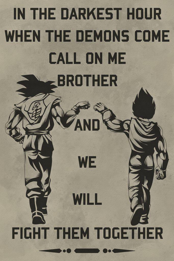 DR040 – Ruf mich an Bruder – Goku – Vegeta – Englisch – Dragon Ball Poster