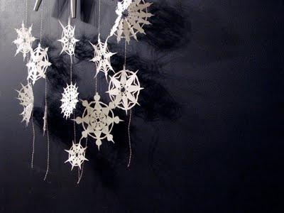 Snow flake paper garland