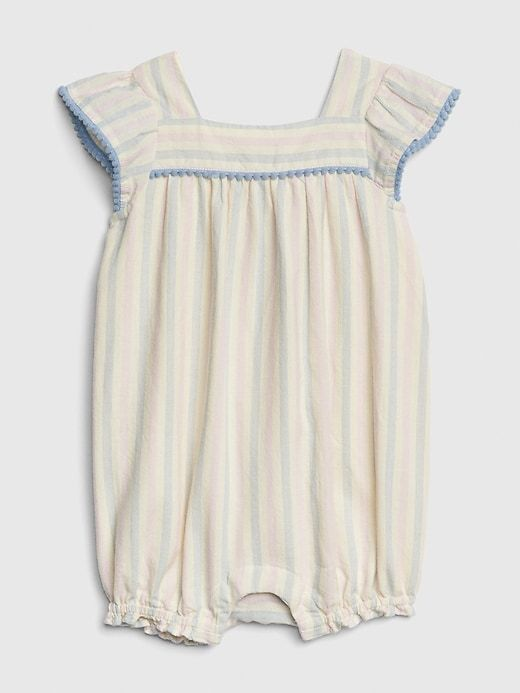 f565cbedb93f0 Baby Pom Stripe Shorty One-Piece | Products | Girls clothes shops, Baby girl  one pieces, Girl outfits