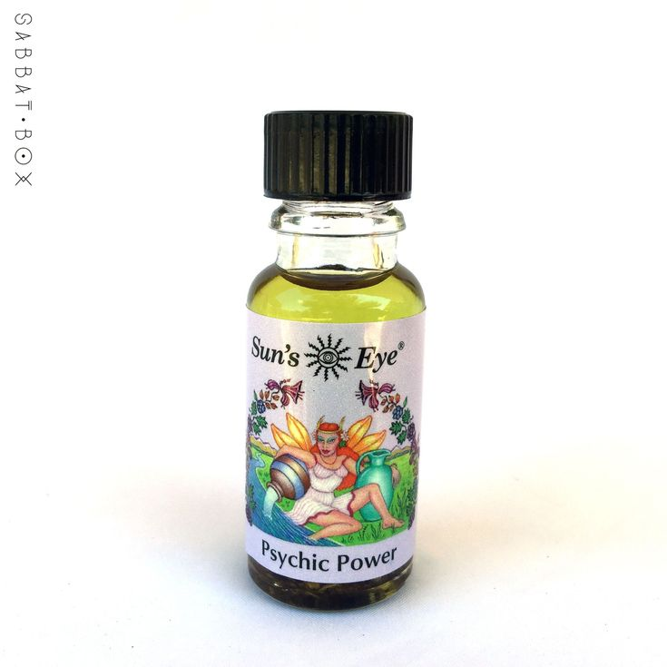 Psychic Power Ritual Oil by Sun's Eye is an essential oil blend infused with Mugwort to help focus psychic works and energy. This high quality oil can be used for anointing, burned in a diffuser or us