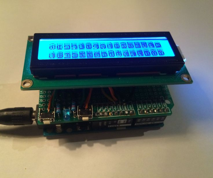 DIY Arduino scrolling LCD text shield