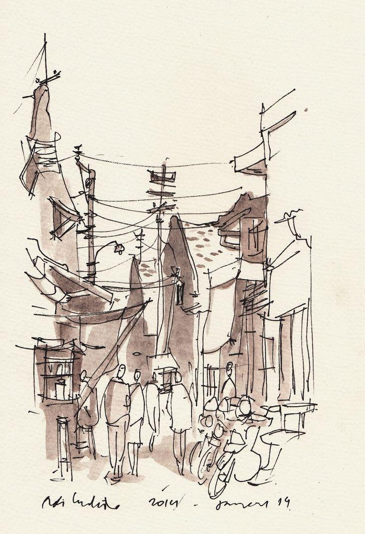 Urban Sketchers: SHORT SHOOT IN CHINATOWN, SEMARANG by Rudi Hartanto