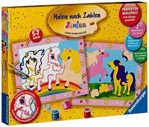 Ravensburger 27723 - S�sse Ponys - Malen nach Zahlen Junior, 30 x 24 cm (2 Motive)