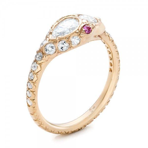 custom ouroboros snake engagement ring jewelry