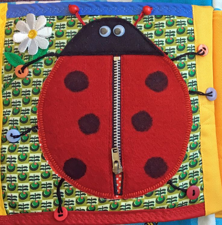 Quiet Book - Ladybird page was the easiest to make.