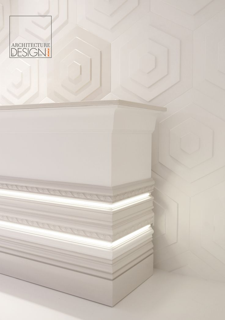 We love this idea to integrate light into the mouldings...