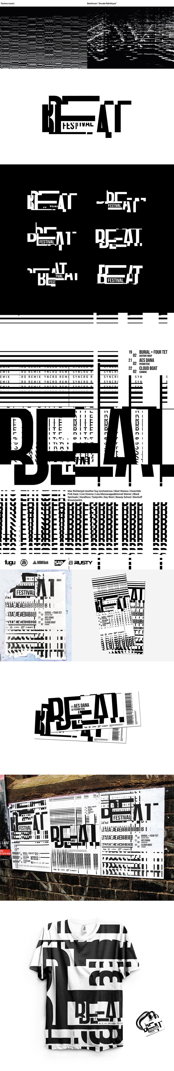 Alexander Rubtsov – Dynamic brand identity for Beat Festival