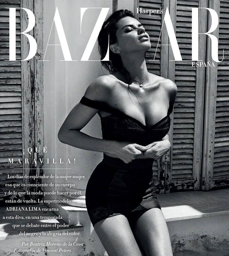 Harper's Bazaar Spain July 2017 Adriana Lima by Vincent Peters