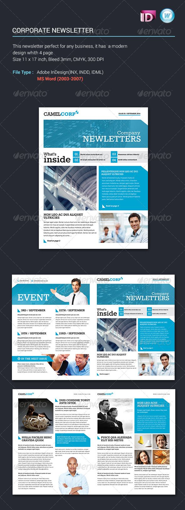 business newsletter templates free
