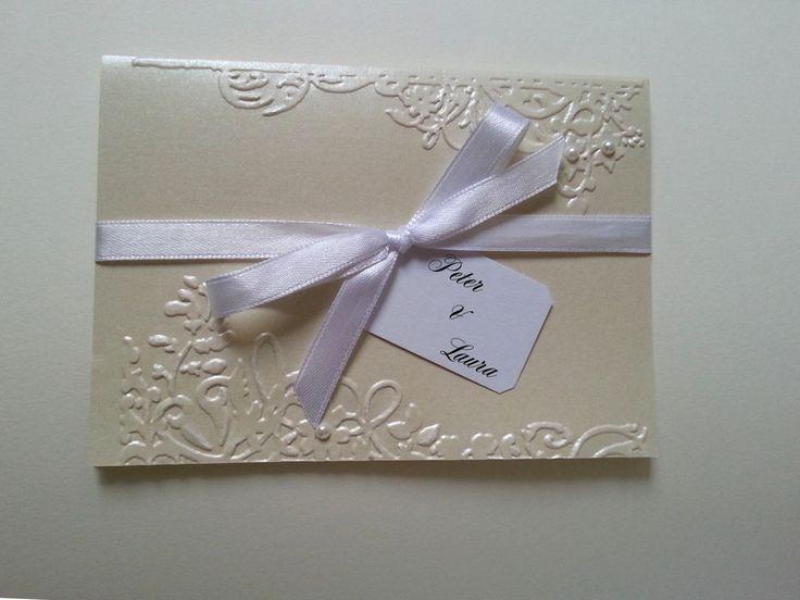 Einladung Hochzeit Shabby 3d Edel Karte Creme