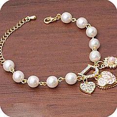 Armbanden met ketting en sluiting 1 stuks,Gouden Armbanden Legering / Imitatieparel / Strass Sieraden Dames
