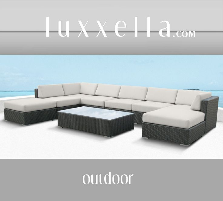 Luxxella Outdoor Patio Wicker MALLINA Sofa Sectional Furniture 9pc All Weather Couch Set. Some day