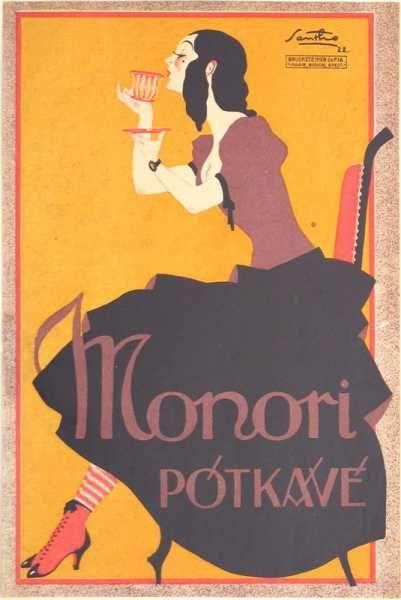Monori pótkávé retro plakát