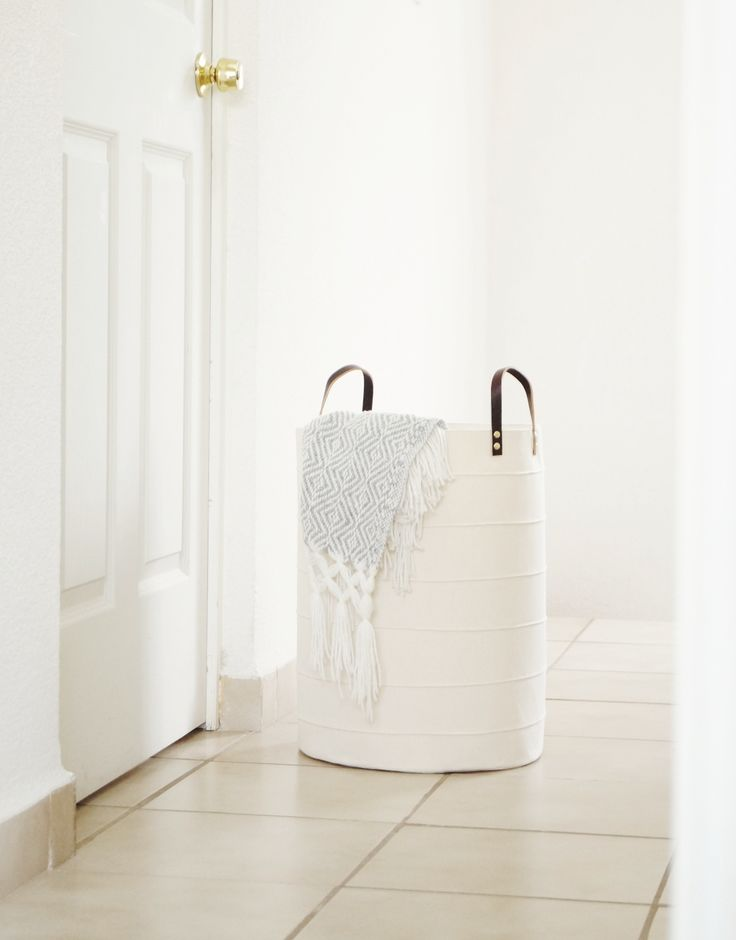 toy storage basket in Scandinavian design // large laundry hamper for kids room, nursery, laundry room // minimalism home decor
