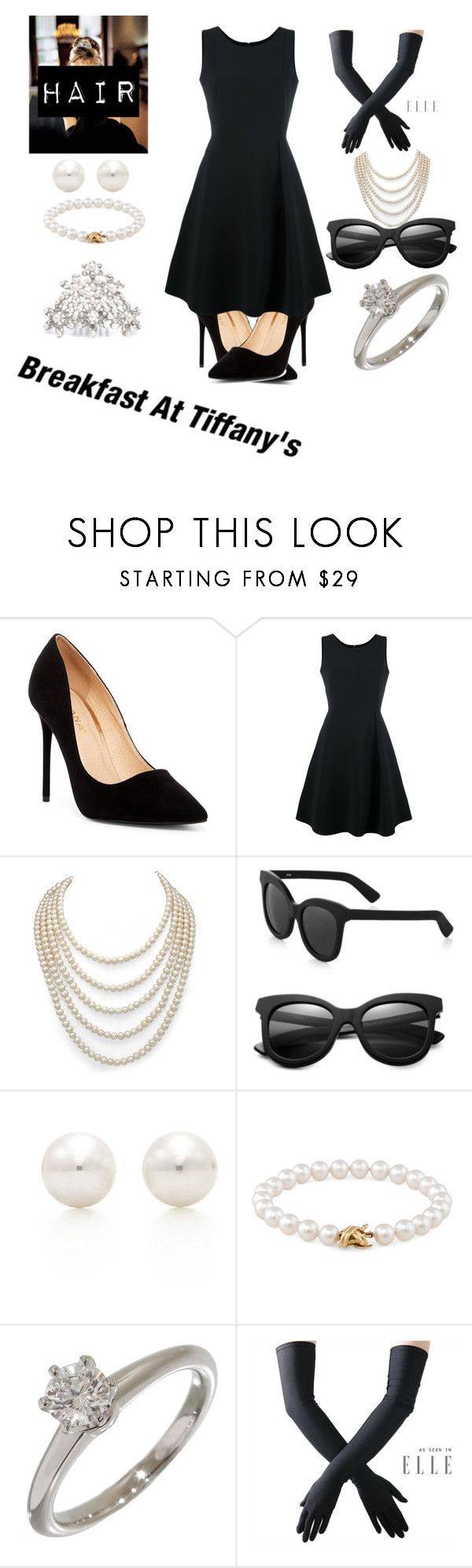 """""""Crazy About Tiffany's! """" by sidneykmail-1 ❤ liked on Polyvore featuring Liliana, Tiffany & Co., Emporio Armani, DaVonna, Illesteva and Black"""