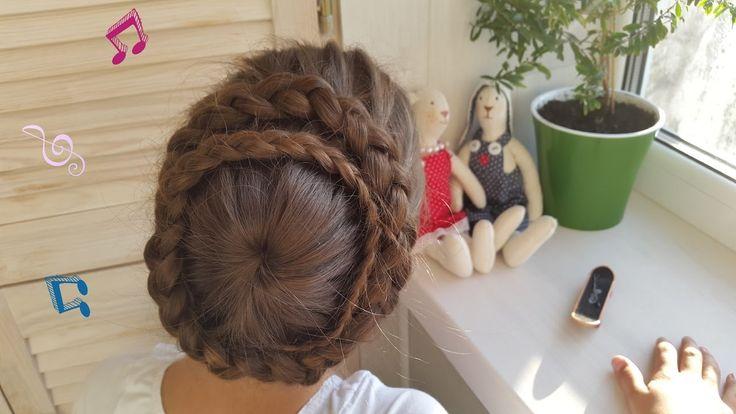 Обратная французская коса из центра или Снежинка (Корзинка, Паутинка, Вулкан, Звездочка, Цветок) // Starburst braid