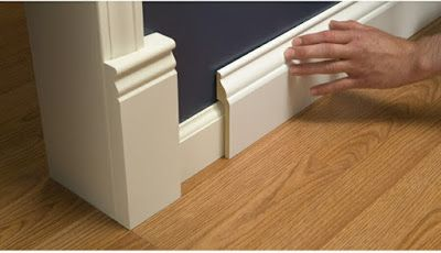 Install Wide Baseboard Molding Over Existing Narrow Baseboard