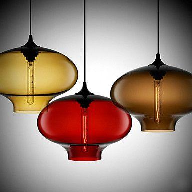 3 - Light Modern Glass Pendant Lights in Transparent Bubble Design - USD $ 369.99