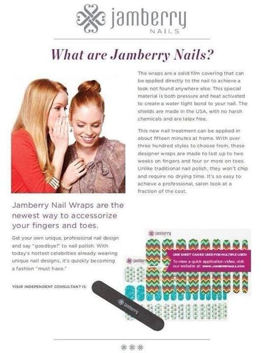 Tired of painting your nails and waiting for them to dry? Hate the smell of nail polish? Want to have fun designs on your nails without the nail art price? Try Jamberry nail wraps!! www.kimweprin.jamberrynails.net