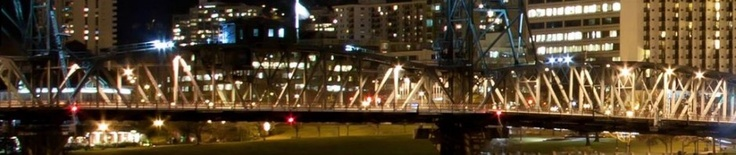My cover photo for FB, LI, www.jonturino.com and other social media sites.  Portland through the Hawthorne Bridge at night.