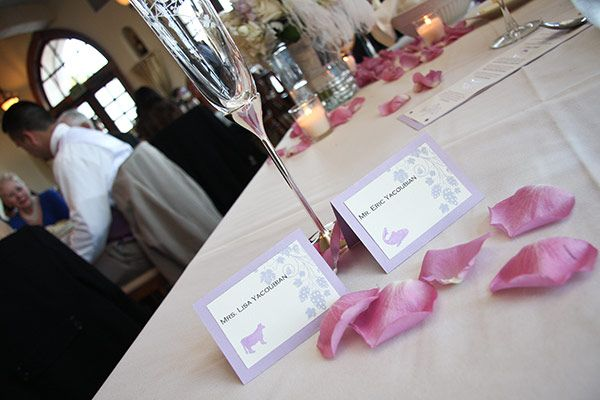 Studio City inspiration: Wedding place cards & menus
