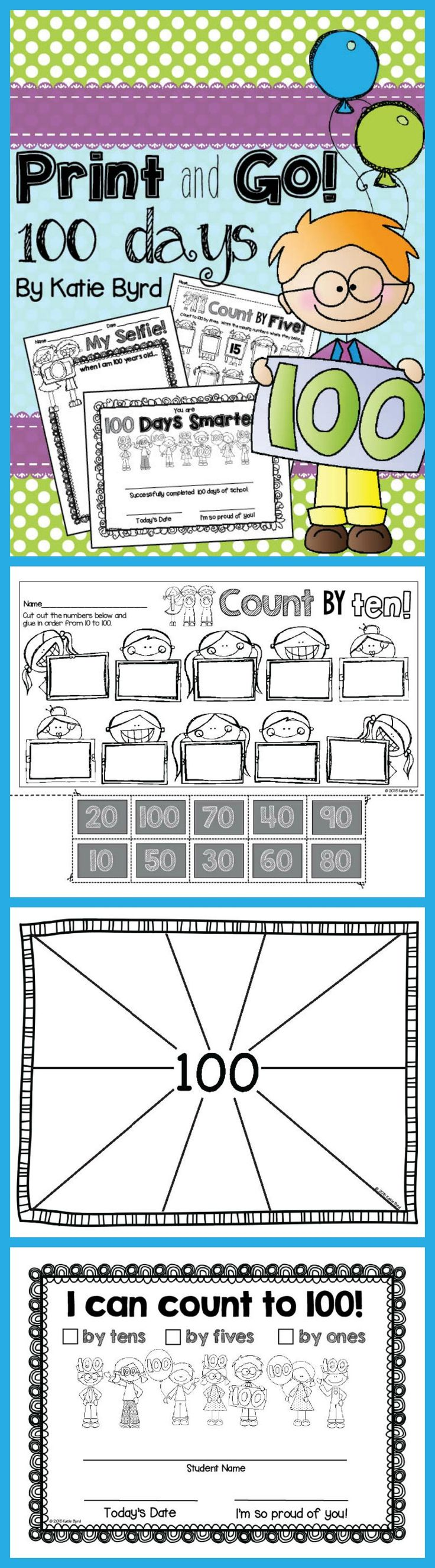 Print and Go 20 Days   Lots of NO PREP printables and activities ...
