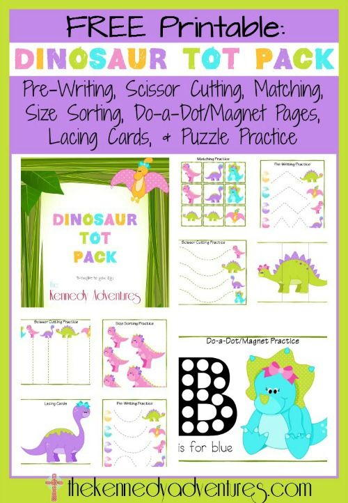 Free Dinosaur Printables for Pre-K! (Kennedy Adventures) #playfulpreschool #printables #dinosaur