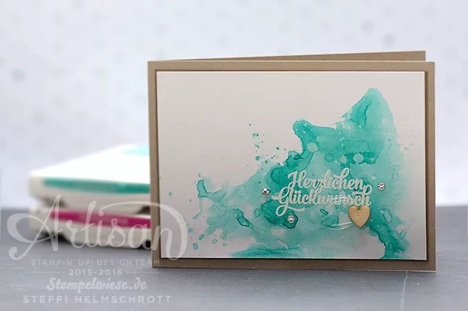 Stampin' Up! - Video - Geburtstagskarte - Aquarell - Bermudablau ❤︎ Stempelwiese